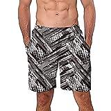NUWFOR Men Casual 3D Graffiti Printed Beach Work Casual Men Short Trouser Shorts Pants(Z2-Multi Color,US:S Waist26.0-29.9'')