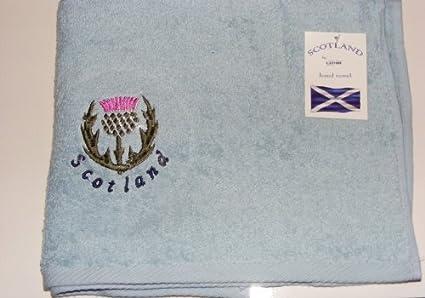 Toallas de Baño/de Manos con Diseño Bordado de Flor de cardo de Escocia -