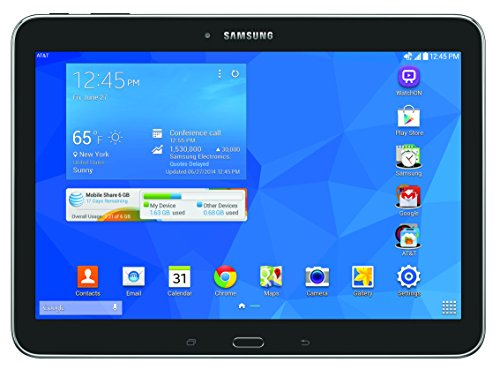 Test Samsung Galaxy Tab 4 4G LTE Tablet, Black 10.1-Inch 16GB (Verizon Wireless) by Samsung (Image #1)