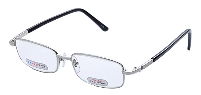 7b3860b950f6 Amazon.com  De Ding Metal Frame Glass Lens Reading Glasses with Case ...