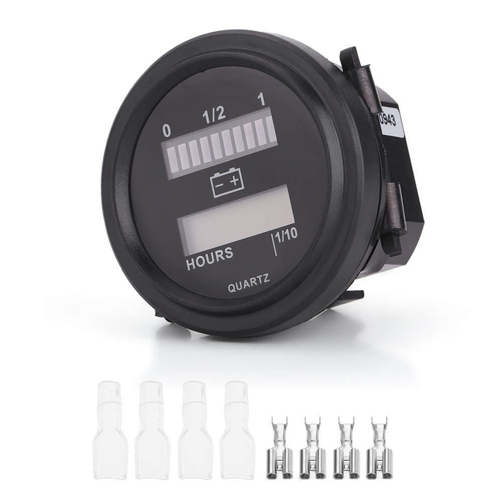 Battery Meter, Delaman LED Digital Battery Indicator Gauge With Hour Meter For Golf Cart, 12V/24V/36V/48V/72V by Delaman