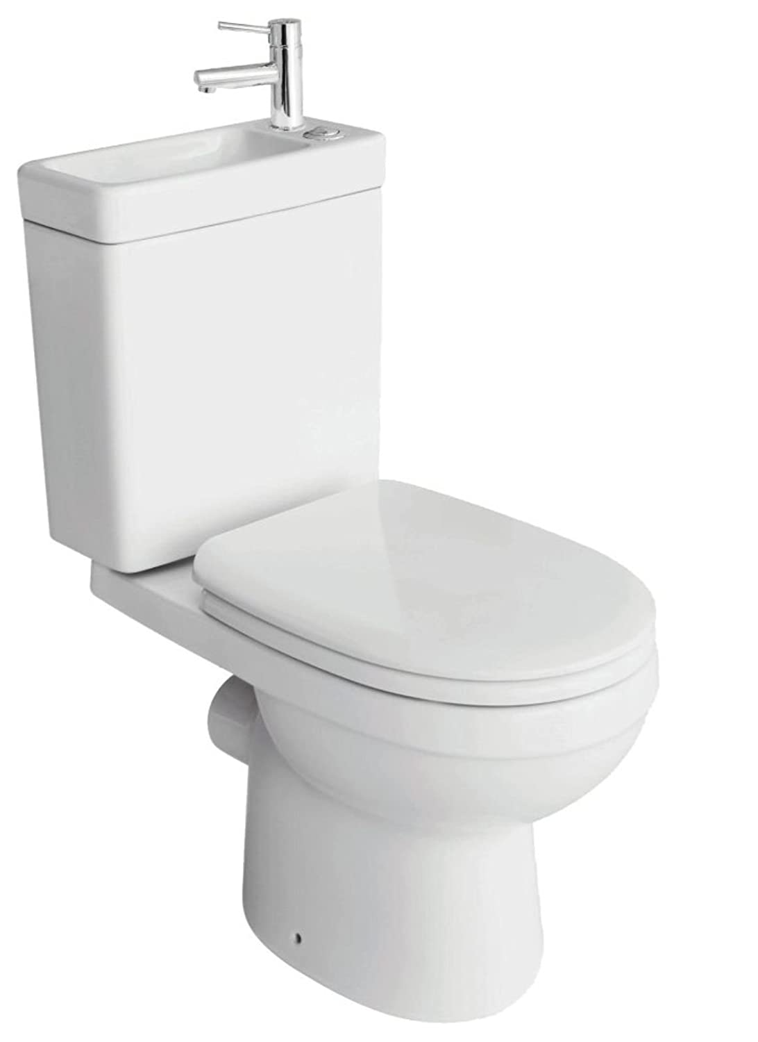 2in1 Combo Combination Toilet Sink Together Wash Basin Bathroom Wc