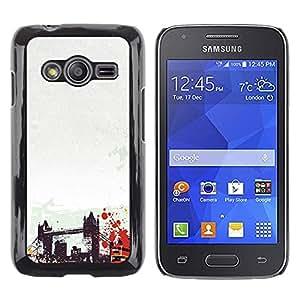 TECHCASE**Cubierta de la caja de protección la piel dura para el ** Samsung Galaxy Ace 4 G313 SM-G313F ** Brooklyn Bridge New York America Usa Art