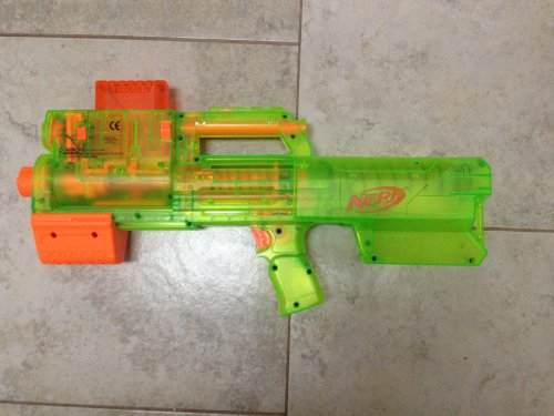 NERF N-STRIKE SONIC SERIES DEPLOY CS-6 Dart Blaster Translucent Green