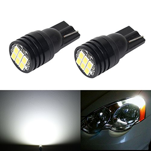 JDM ASTAR Extremely Bright 3020 Chipsets 168 175 194 2825 W5W T10 LED Bulbs For License Plate Lights, Xenon White( Best license plate lights on the market)
