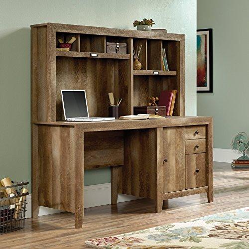 Sauder Dakota Pass Computer Desk with Hutch in Craftsman Oak by Sauder