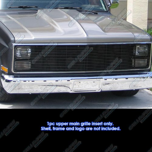 (APS 81-87 Chevy GMC Pickup/Suburban/Blazer/Jimmy Phantom Black Billet Grille Grill)
