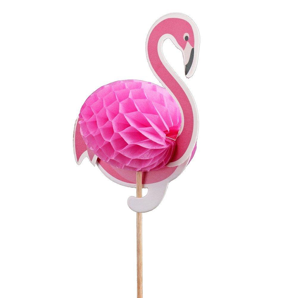 Cake Topper Decoration 3D Pineapple Flamingo Tropical Summer Hawaii ...