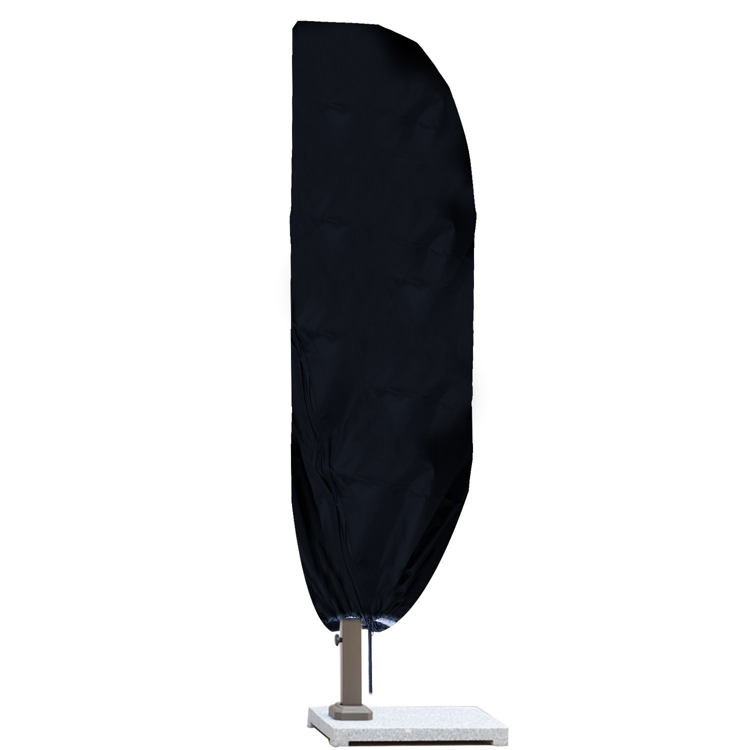Garden Parasol Cover – Meersee Cantilever Banana Parasol Cover Extra Large 265CM Garden Heavy Duty Waterproof UV Protected Umbrella Protector with Zip, Black