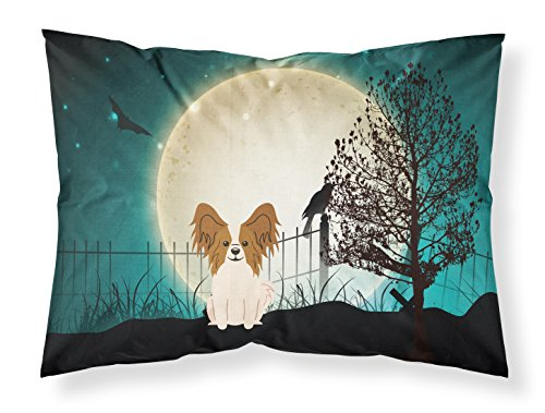 BB2268PILLOWCASE Halloween Scary Papillon Red White Fabric Pillowcase, Standard, Multicolor (Papillon Pillow)