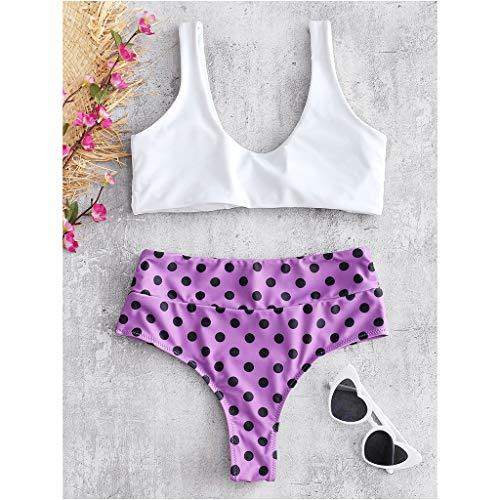 Intero Spiaggia Bagno Sabbia Imbottito Unita A Sexy Bikini Tinta Viola Donna Da Costume Color Costumi Darringls 8qwtBR61