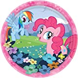 """Amscan Charming My Little Pony Friendship Birthday Party Dessert Paper Plates Disposable Tableware (8 Pack), 7"""", Multicolor offers"""