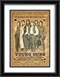Young Guns 28x36 Double Matted Large Black Ornate Framed Movie Poster Art Print