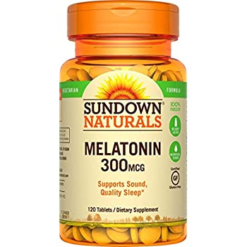 Sundown Naturals Melatonin 300 mcg, 120 Tablets
