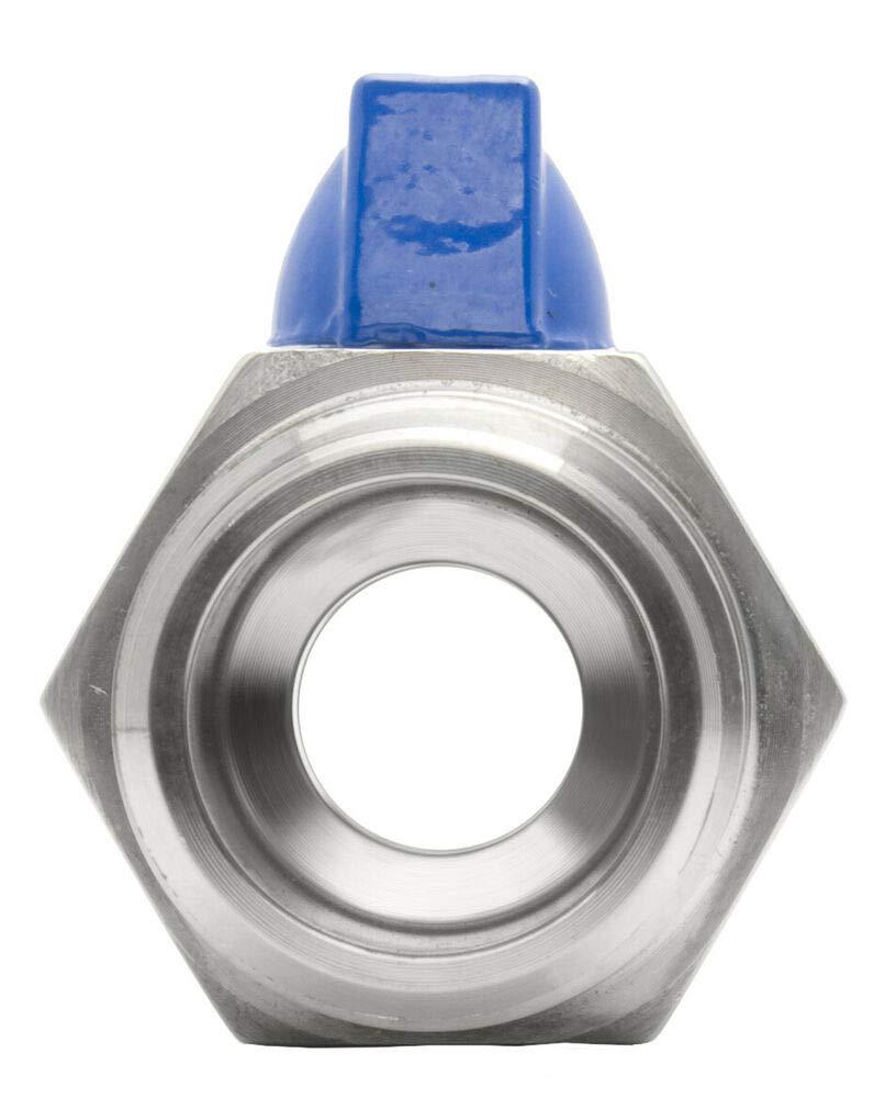 Stainless Steel 316 FxM NPT 3//4 Mini Ball Valve