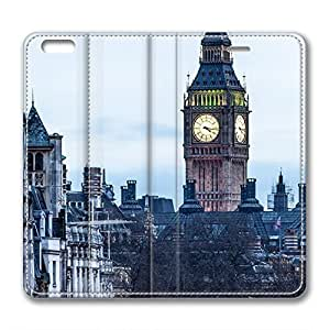iCustomonline Leather Case for iPhone 6 Plus, London Street Ultimate Protection Leather Case for iPhone 6 Plus