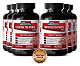 Creatine supplement for muscle gain and recovery - Creatine Tri Phase 5000 Mg - Bulk up (6 Bottles - 540 Tablets)