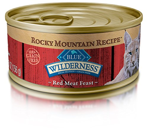 BLUE Wilderness Rocky Mountain Recipe Adult Grain Free Red Meat Feast Pate Wet Cat Food 5.5-oz (pack of 24)