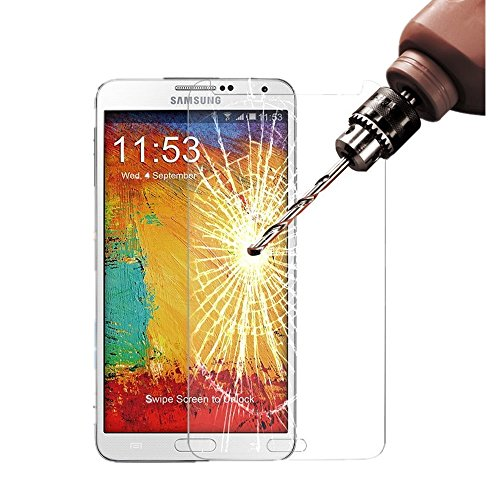 Samsung Note 3 Screen Protector, Asstar Samsung Galaxy Note 3 Tempered Glass Screen Protector with Bubble Free,Touchscreen Accuracy, 9H Hardness, 0.3mm Ultra Thin 2.5D Round ()