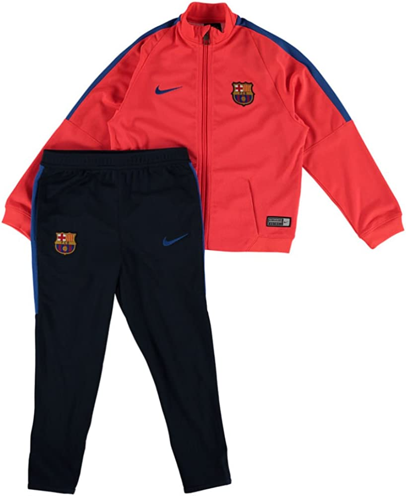 Nike FCB I TRK Suit SQD K Chándal, Niños, Rojo (Bright Crimson ...
