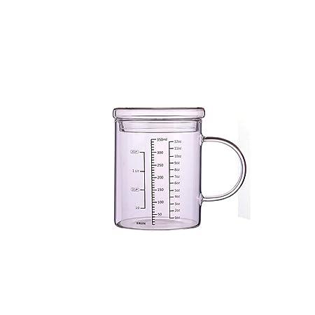 HENGTONGTONGXUN Taza medidora de vidrio resistente al calor, taza ...