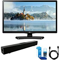 LG 28LJ4540 28-Inch 720p HD LED TV (2017 Model) w/ Sound Bar Bundle Includes, Solo X3 Bluetooth Home Theater Sound Bar, 6ft High Speed HDMI Cable and LED TV Screen Cleaner