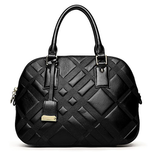 BOSTANTEN Leather Handbag Crossbody Shoulder Tote Bags for Women on Clearance Black