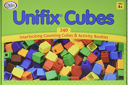 Didax Educational Resources Unifix Cubes for Pattern Building Set (240 Pack)