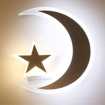 LED-Stern Mond Wand Lampe Kreative Kinderzimmer Schlafzimmer Nachttisch  Lampen Gang Korridor Beleuchtung