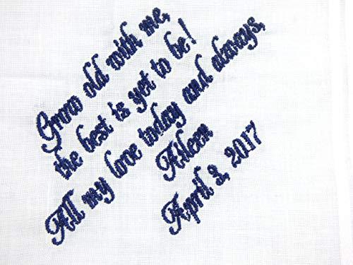 Groom Handkerchief, Gift From Bride to Groom, Personalized Handkerchief for Groom ()