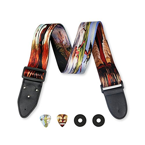 Surreal Art Guitar Strap Salvador Dali Inspired Includes 2 S