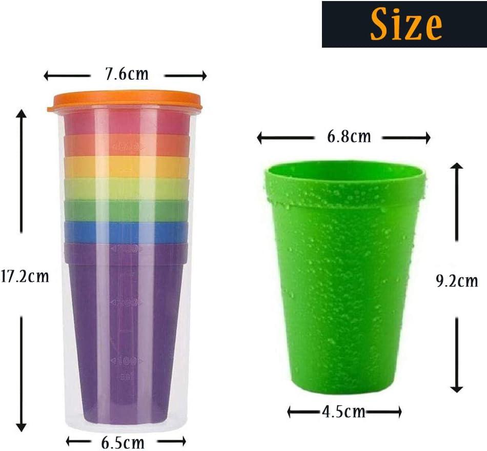 Vektenxi 6 Pcs Gobelet En Plastique Tasse /À Mesurer Avec Tasse /À Mesurer R/ésistant /À La Chaleur pour Cuisine ou Laboratoire 50 ml Rentable Et Durable