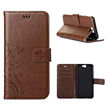 """HTC One A9 Case, LANDEE Advanced Pressed Flowers Series The Unique Design PU Leather Wallet Stand Flip Case for HTC One A9 (5.0"""") (HTCA9-P-0406)"""