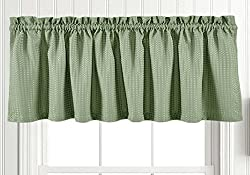 Waffle Weave Textured Valance/Tiers Rod Pocket Window Curtains Kitchen Bathroom Privacy
