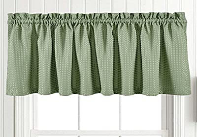 jinchan Waffle-Weave Pattern Rod Pocket Window Curtains, Set of Two