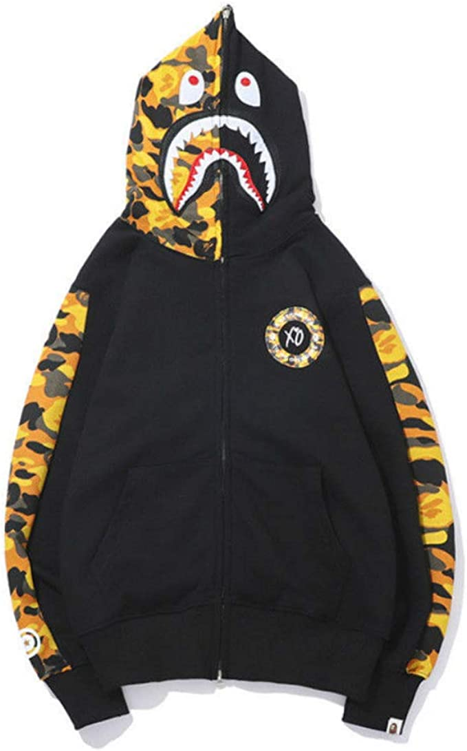 Bape Bathing Ape Hoodie SHARK Head Camo Full Zip Coat Long Sleeve Jacket 11Color