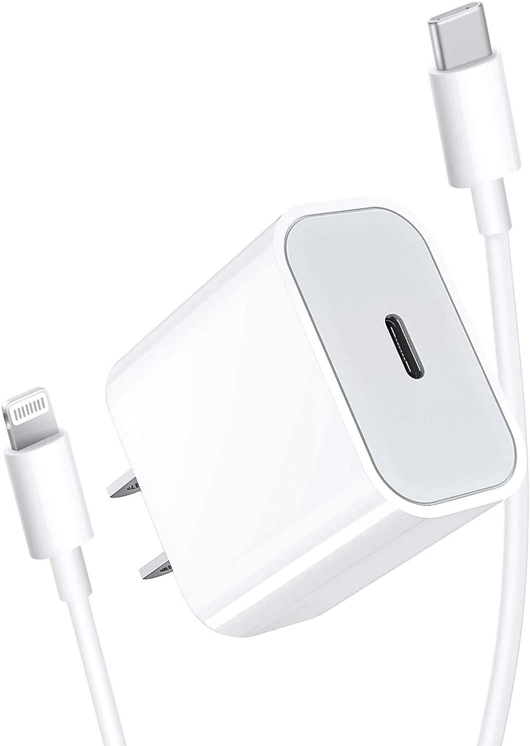 [Apple MFi Certified] iPhone Fast Charger, DESOFICON 20W PD Power Type C Rapid Wall Charger Travel Plug&6.6FT USB-C to Lightning Quick Charge Data Sync Cord for iPhone 12/11/XS/XR/X/8/iPad/AirPods Pro