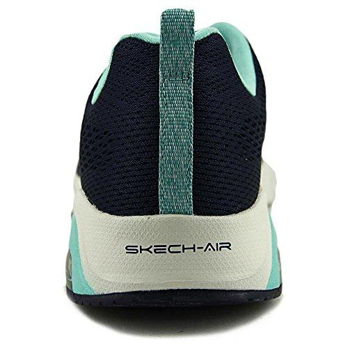 Skechers Skech-Air de la mujer Cruz formación Shoe 12722 Navy-turquoise
