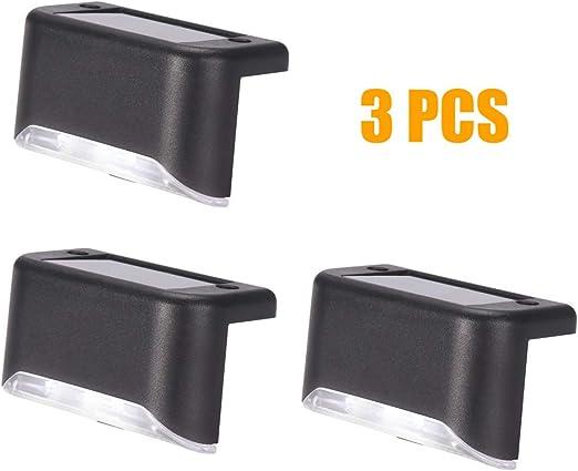 Winbang Garden Path Lamp, 3-Pack / 10-Pack Solar Sconce Lámpara de ...
