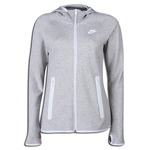Nike Women's Tech Fleece FZ Hoody Grey 657859-050 (SIZE: XL)