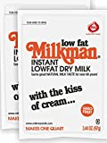 Milkman Instant Low Fat Dry Powdered Milk - 2 Quarts (6.88 Oz) GMO Free