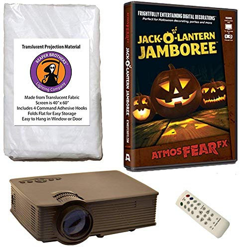 Halloween Digital Decoration Kit Includes 1080p HD Resolution Projector, 40