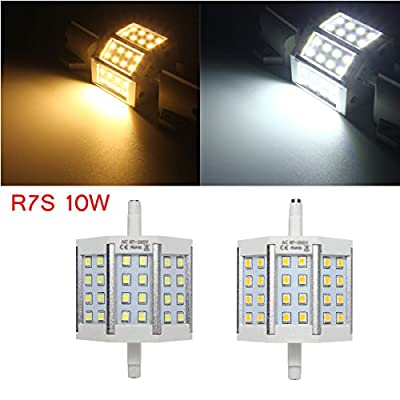 R7S 10W 24LEDS Bright 2835 440LM LED Bulb Flood Light Lamp Replacement AC 85-265V Non-Dimmable (Random: Color)