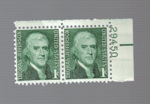 United States 1 Cent Thomas Jefferson (2) Stamps