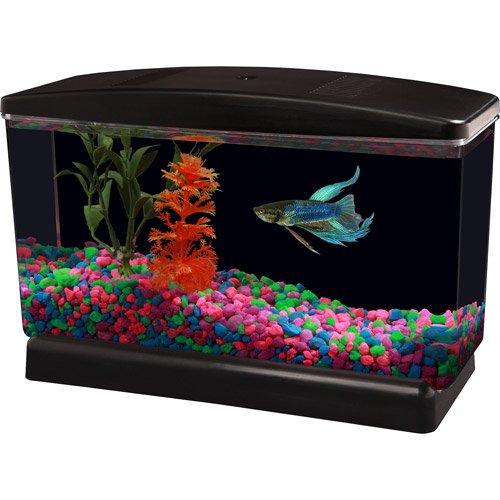 Aqua Culture Bettaview Betta Fish Aquarium .5 1 2 Gallon with Divider