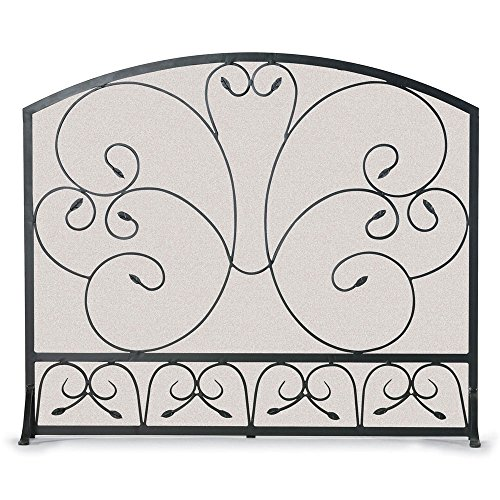 NAPA FORGE Pilgrim Home and Hearth 19254 Country Scroll Arch Flat Panel Fireplace Screen, 37″ W x 31.5″H Center x 27