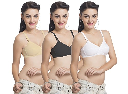UltaFit UltraFit Ultima Women's Non-Wired T-Shirt Bra (Pack Of 3) (Non Wired Padded Bra)