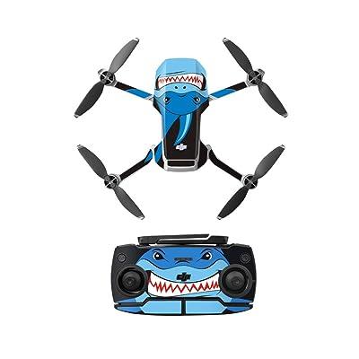 Anbee Waterproof Decal PVC Skin Decorative Stickers for DJI Mavic Mini Drone (Blue Shark): Computers & Accessories