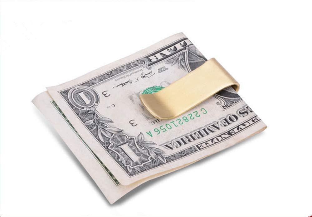 Febbya Pinzas para Billetes,4 Pack Cobre Clip para Billetes Money Clips para Hombres Mujeres 55 20 1CM Oro