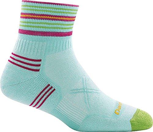 Ultralight Womens Socks - Darn Tough Vertex Coolmax 1/4 Ultra-Light Cushion Sock - Women's Aqua Medium